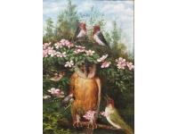Gesprek tussen de wijze uil en de zangvogels