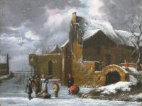 IJsvermaak, vermoedelijk voor één van de poorten van Haarlem
