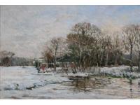 Orangerie Elswout in de sneeuw