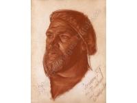 Portret van Leonid Sologoub gemaakt door zijn vriend Yakovlev in 1925