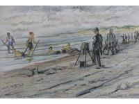 "z-  ""Scheveningen strand omstreeks 1925"""