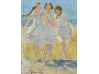 Drie meisjes in Domburg
