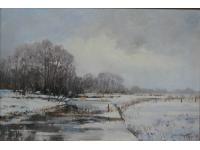 Sneeuwlandschap Glipperdreef Bennebroek