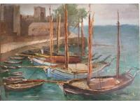 Italiaanse haven met zeilboten