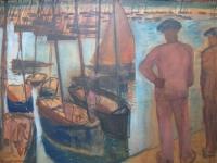 Vissers in de haven van Concarneau Frankrijk
