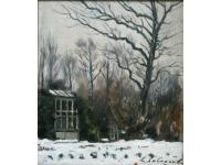 Sneeuw bij Huis ten Bosch