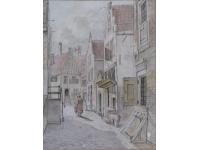 Z- Straatje, vermoedelijk Amsterdam omstreeks 1820