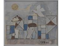 z- Paard met vredesduif