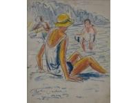 z-  Vrouw op het strand