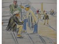 kletsen op het pleintje